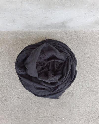 Tørklæde - bomuld, sort
