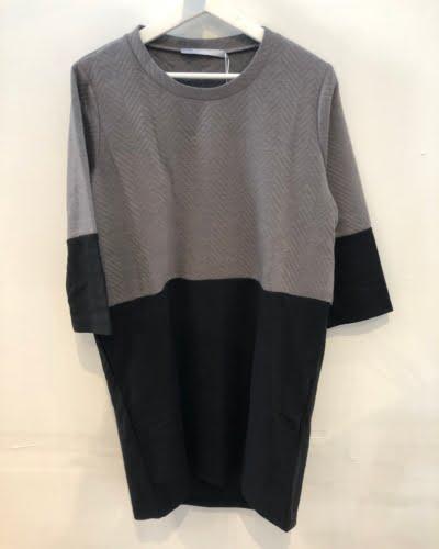 Ofelia - kjole - sort/grå - JUDY