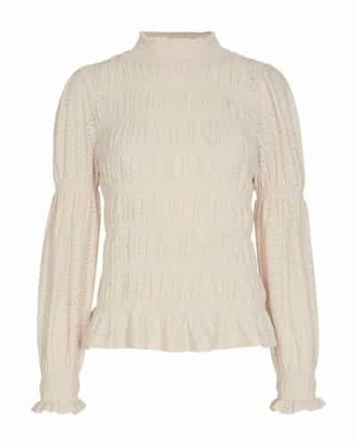 Freequent offwhite highneck bluse FQBLOND